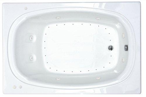 Atlantis Whirlpools 4878cdr Charleston Rectangular Air & Whirlpool Bathtub 48 X 78 Ctr Drain Wh
