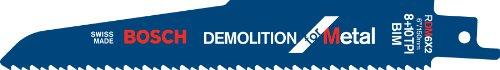 +10T Demolition Bi-Metal Reciprocating Saw Blade, 6-Inch ()