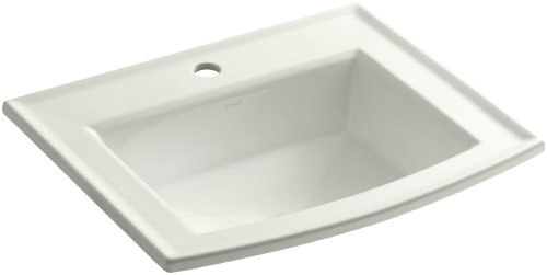 KOHLER K-2356-1-NY Archer Self-Rimming Bathroom Sink with Single-Hole Faucet Drilling, - Archer Lavatory