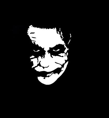 The joker batman vinyl decal stickerwalls cars trucks vans laptopswhite5 5