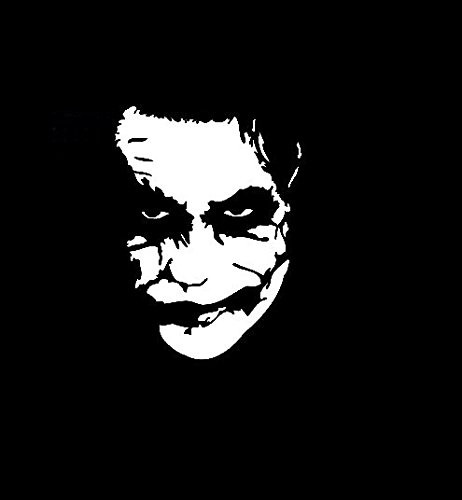 The Joker Batman Vinyl Decal Sticker|Walls Cars Trucks Vans Laptops|White|5.5 In|KCD731