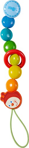 HABA Pacifier Chain Caterpillar | Pacifier Holder Wooden, Newborn Baby Toy | 303755 - Haba Pacifier Chain