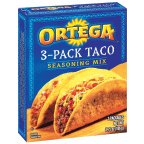 Ortega Taco Seasoning Mix, 3-Count Packages (Pack of 12)