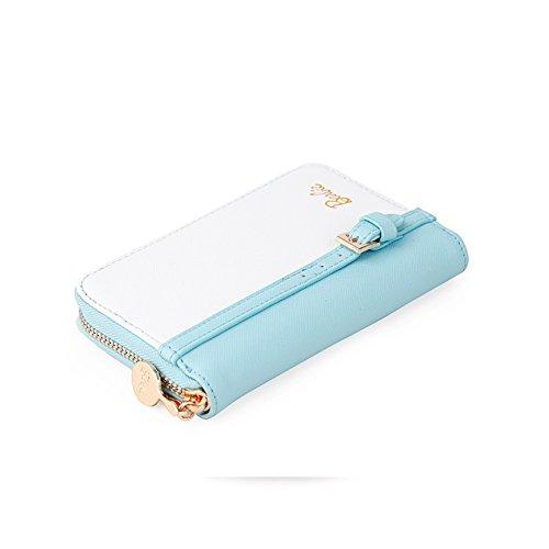 Blanc Pour À bbps061 En Bleu Elegant femmes Shopping Mode Blanc monnaie Pu Série Filles Barbie Porte La Et bleu De 8SnFSTx