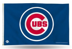 MLB Chicago Cubs Logo (On Blue) 3-Foot by 5-Foot Banner Flag Chicago Cubs Vertical Flag