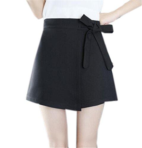Noeud Jupe Papillon Femelle Black1 Crayon Tayaho Couleur Skirt Loisir Universite Femme Taille Miniskirt Haute Unie Jupe Jupe Avec Court wXv4dYq4x