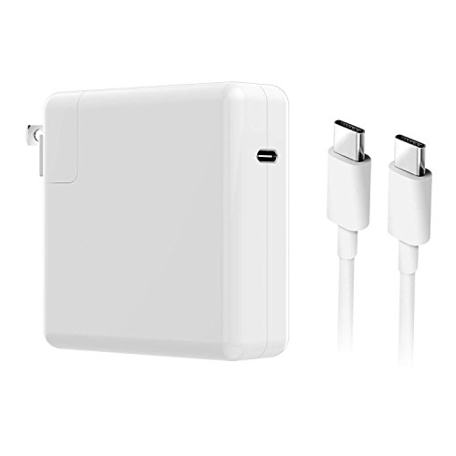 87W USB-C Power Adapter, Universal USB-C Wall Charger PD Fast Charging, Compatible MacBook Charger 87W MNF82LL/A, 61W MNF72LL/A, 29W MJ262LL/A (6.5Ft USB-C Cable Included) (White)