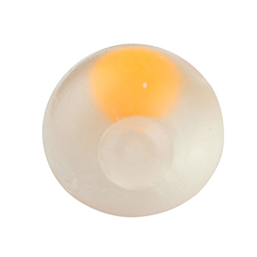 Harmily Soft Venting Egg Squeezing Ball Stress Relief Toys Squeeze Ball Egg Yolk Water Toy Xmas Gift