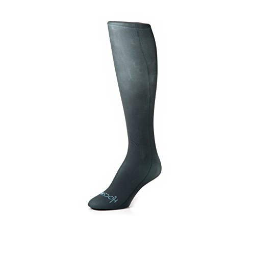HOCSOCX WOMEN'S/GIRL'S SOLID COLOR SHIN GUARD LINER SOCKS (Women's, Charcoal)