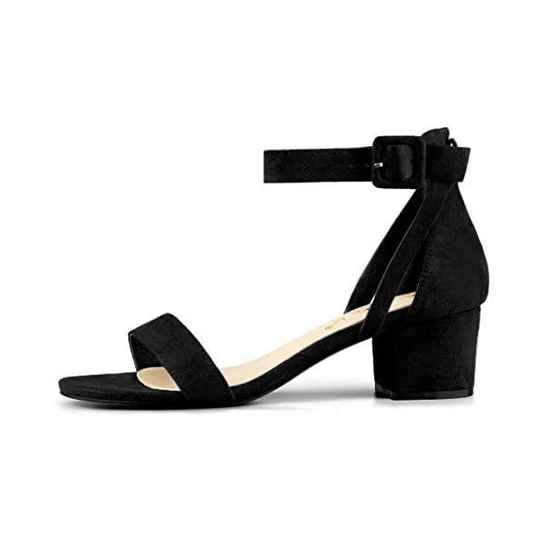 c65baa267 Allegra K Women s Ankle Strap Block Low Heel Sandals - 0654k.com