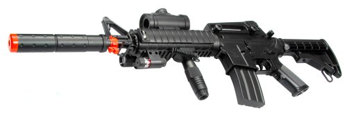 (Double Eagle M83P RIS M4 AEG Electric Powered Airsoft Rifle (Retractable)