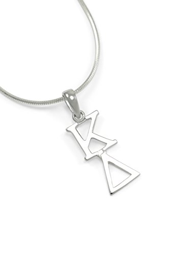 Kappa Delta Sterling Silver Lavaliere Pendant