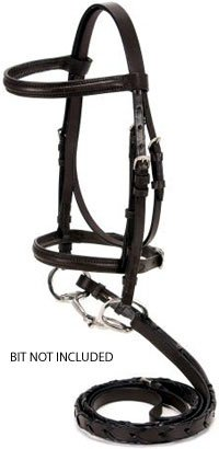 SilverFox Raised Snaffle Bridle Brown Pony