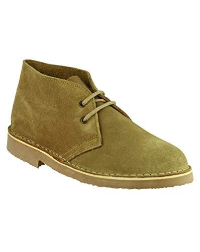 SAHARA Unisex Suede Leather Desert Boots Sand