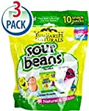 Yummy Earth YumEarth Naturals Sour Beans Jelly Beans Gluten Free Assorted Fruit -- 10 Packs Each / Pack of 3