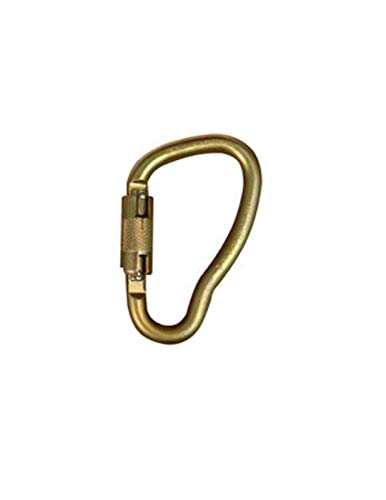(Elk River 17440 Fall Rated Steel Curve Carabiner with Auto Twist-Lock, 3600 lbs Gate, 1