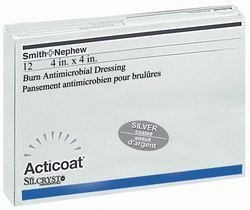 Smith & Nephew 20101 Acticoat Dressing with Nanocystalline Silver, 4'' Width, 4'' Length (Pack of 12) by Smith & Nephew (Image #1)
