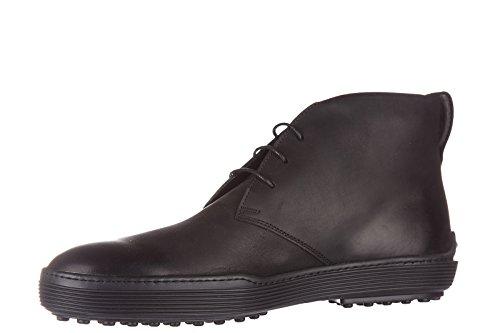 Tod's bottines demi-bottes homme en cuir noir