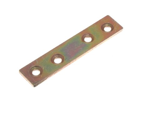 FLAT MENDING REPAIR CONNECTOR JOINING PLATE 75MM X 16MM YZP ( pack of 4 ) onestopdiy.com