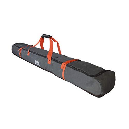 (High Sierra Padded Ski Bag for Single Pair of Skis (Up to 185cm) - Mercury/Black/Red Line)