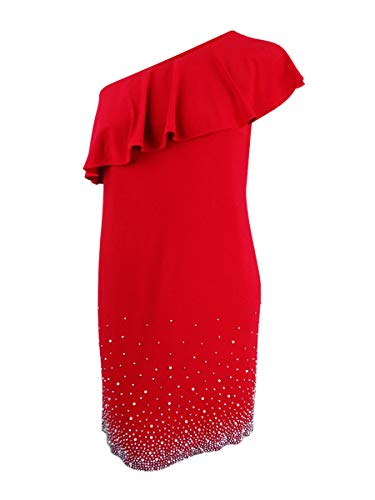MSK Women Womens Plus Party Club Wear Cocktail Dress Red 1X