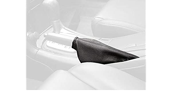 Black Leather-Black Thread RedlineGoods Shift Boot Compatible with Nissan Maxima 2000-01