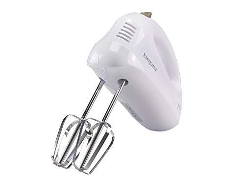 Beper BP.304 Sbattitore Elettrico e Mescolatore, 150 W, 70 Decibel, ABS/Acciaio Cromato, 5 velocità, Bianco Tortora 4