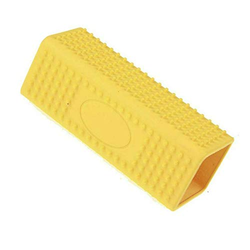 PG-One New Silicone Pet Hair Removal Comb Cat Dog Hair Shedding Trimming Massage Cat Grooming Tool Cleanerh Pet Supply,Yellow,122x45x45mm