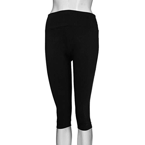 Mayor ASHOP de Pantalones Pantalones Bolsillo Boho Vaqueros Pantalón Ocio tamaño de Mujer sólido Negro Estilo Jeans Cintura Impreso Leggings Fitness Cordón de 500Xrf