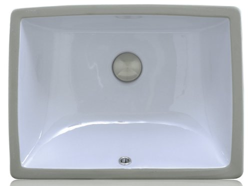 Lenova PU-01-W Porcelain Undermount Bathroom Sink, White