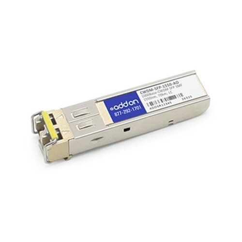 Image of Network Transceivers AddOncomputer.com Cisco CWDM-SFP-1550 Compatible 1000BASE-CWDM SFP