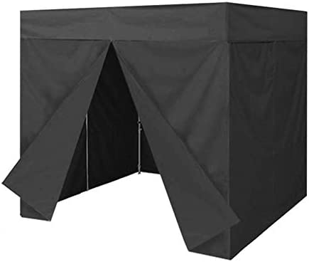 Eurmax Basic 8×8 Ez Pop up Canopy Photo Booth Tent Instant Canopies with 4 Removable Zipper End Side Walls with Deluxe Carry Bag Black