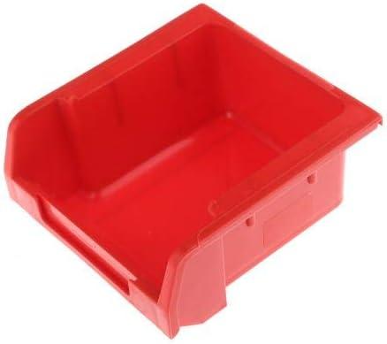 RS PRO 収納ボックス 高さ 50mm 幅 100mm 深さ 103mm PP 赤 20個入 3903299