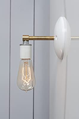 Brass and White Wall Sconce