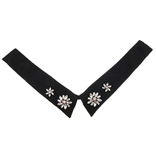 Collare Collo Peter Baosity Colletto Nero Collana B Falso Staccabile Camicetta Pan Regalo Personale Vintage Donna SfwSqI0