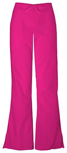 - Cherokee Women's Natural Rise Flare Leg Drawstring Pant_Raspberry_X-Large,4101