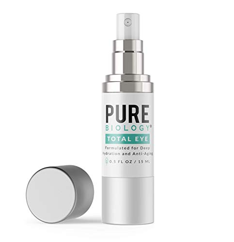 Premium Total Eye Cream Serum with Vitamin C + E, Hyaluronic Acid & Anti Aging Complexes to Reduce Dark Circles, Puffiness, Under Eye Bags, Wrinkles & Fine Lines for Men & Women (0.5 oz)