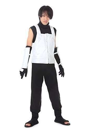 ICEMPs Cosplay Costume Hidden Leaf Hatake Kakashi Anbu Black Ops Outfit Set (Anbu Black Ops Cosplay Costume)