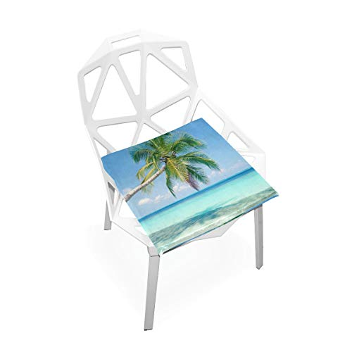 (Jacksome Palm Tree Seat Cushion for Office Chair Seat Pad Memory Foam Office Chair Cushion)