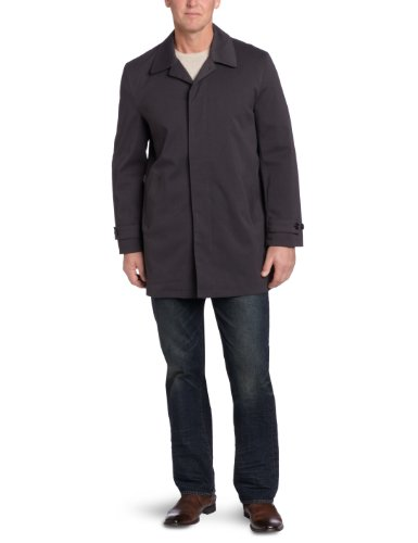 Michael Kors Men's Patterson Rain Coat, Charcoal/Black, 46 Regular by Michael Kors