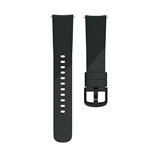 Outsta for Huami Amazfit Bip Youth Watch Band, Soft Silicon Accessory Wirstband Smart Watch Bracelet Band Women Men Multicolor (Black) by Outsta (Image #3)