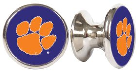 (Clemson Tigers NCAA Stainless Steel Cabinet Knobs / Drawer Pulls (2-pack))