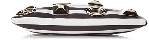 L'AETELIER CAESARS Hany - bolso de mano Mujer negro (negro/blanco)