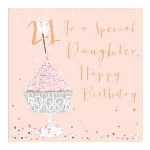 Tarjeta de felicitación para 21 cumpleaños con texto en ...