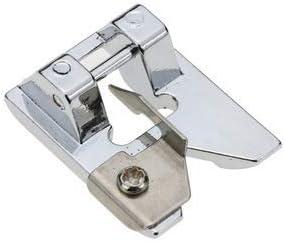 La Canilla ® - Prensatelas de Flecos y Puntadas Decorativas para Máquinas de Coser Alfa, Singer, Lidl, Brother Universal (Snap-On) Fringe Foot