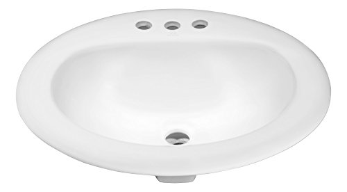 20.5'' Ceramic Drop-In Sink - Glossy White - Cadenza Series LS-AZ097 - ANZZI by ANZZI