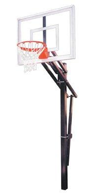 最初チームSlam III steel-acrylic in ground調整可能バスケットボールsystem44、ロイヤルブルー B01HC0D656