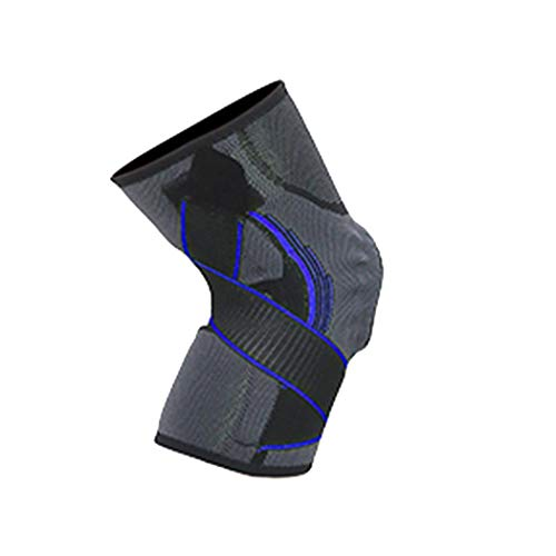 Lantusi Sports Knee Pad Silicone Spring Strip Support Pressure Strap Brace Protection Knee Pads
