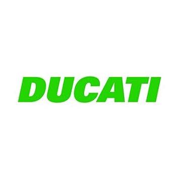 Ducati scritta logo replica moto sticker decal adesivo prespaziato senza fondo in vinile colore rosso lucido 20 centimetri.