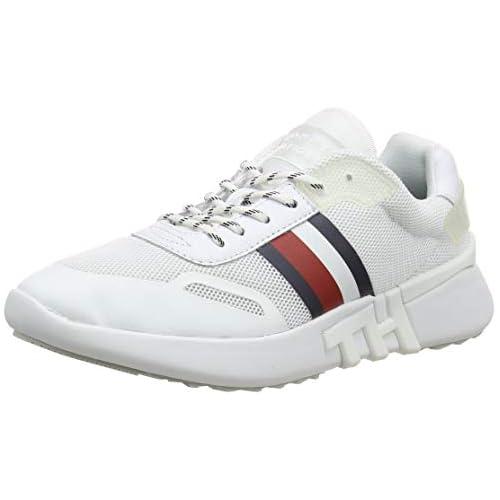 chollos oferta descuentos barato Tommy Hilfiger Tommy Sporty Runner Zapatillas para Mujer Blanco White Ybs 40 EU